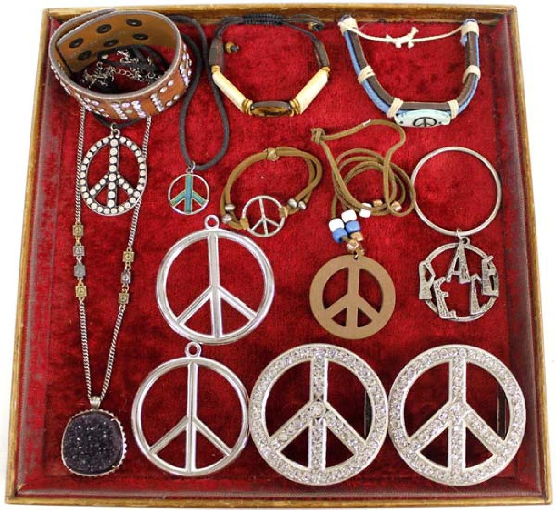 Vintage Peace Sign Hippy Jewelry