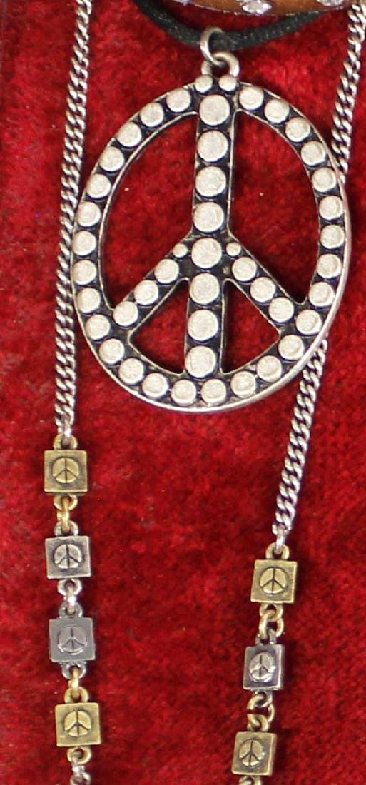 Vintage Peace Sign Hippy Jewelry - 2