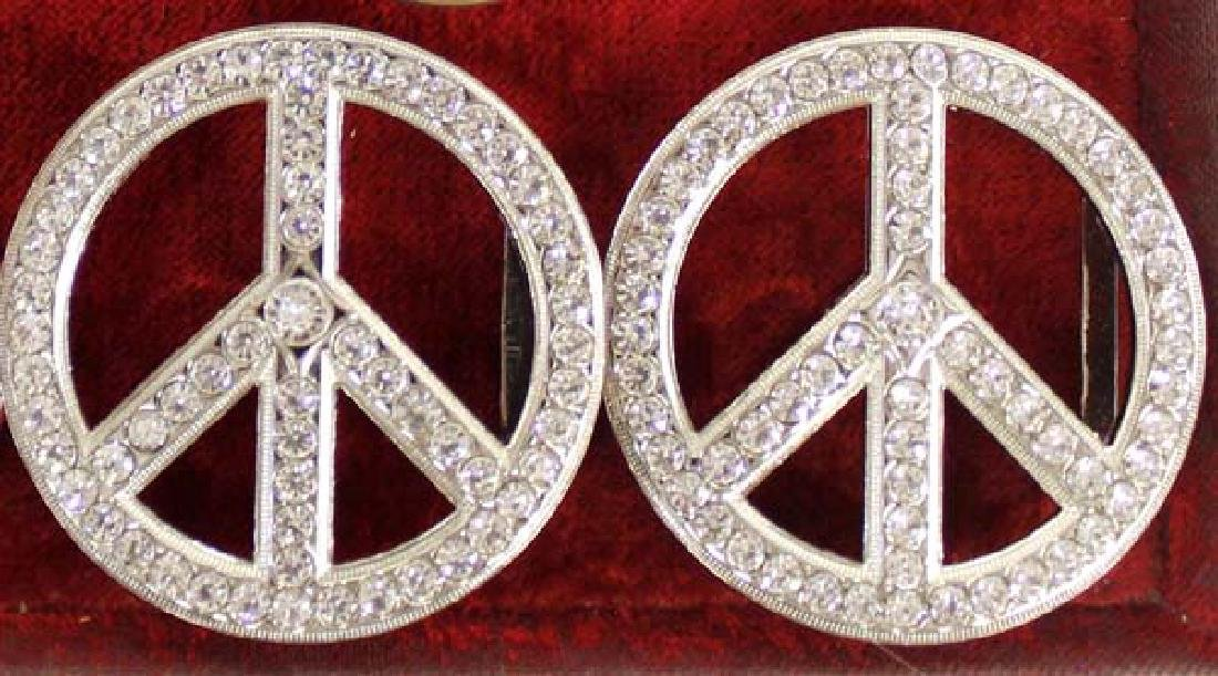 Vintage Peace Sign Hippy Jewelry - 3