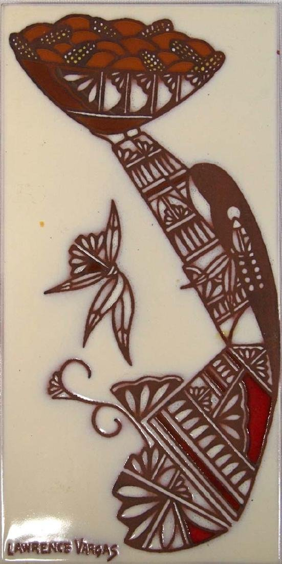 Tecolote Tile Handcrafted  by Lawrence Vargas