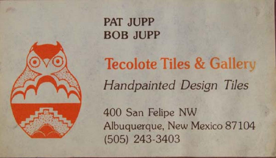 Tecolote Tile Handcrafted  by Lawrence Vargas - 2
