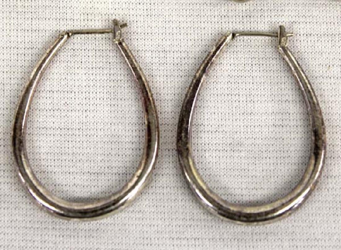 3 Pair Sterling Silver Earrings - 2