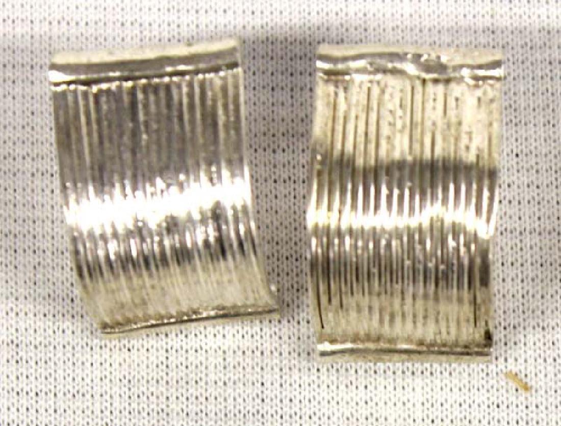 3 Pair Sterling Silver Earrings - 3