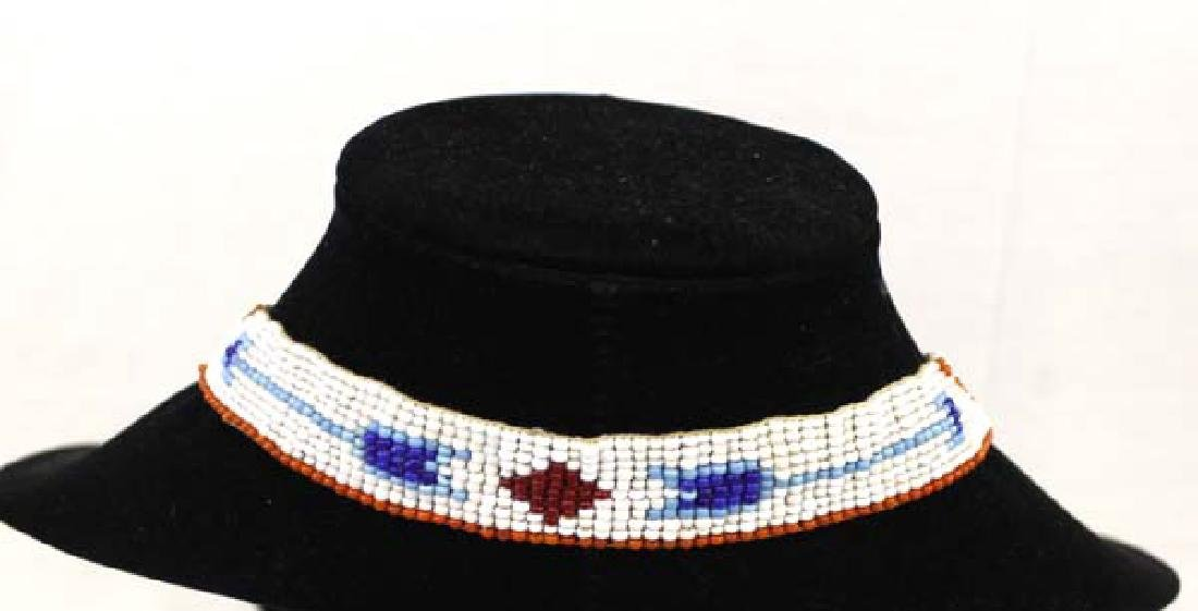 Sioux Native American Loom Beaded Necklace - 3