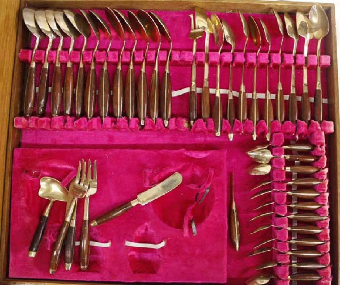 James Co. Solid Nickel Bronze Flatware, 145 Pieces - 5