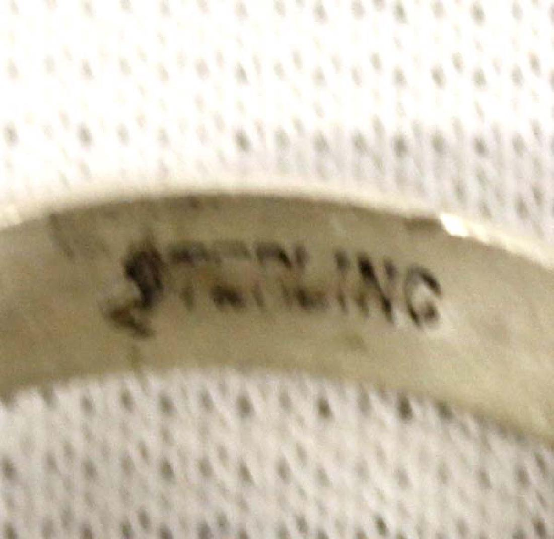 Native American Navajo Sterling Larimar Ring - 5