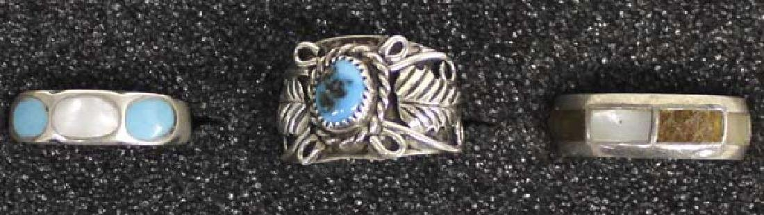 5 Native American Sterling Silver Rings - 3