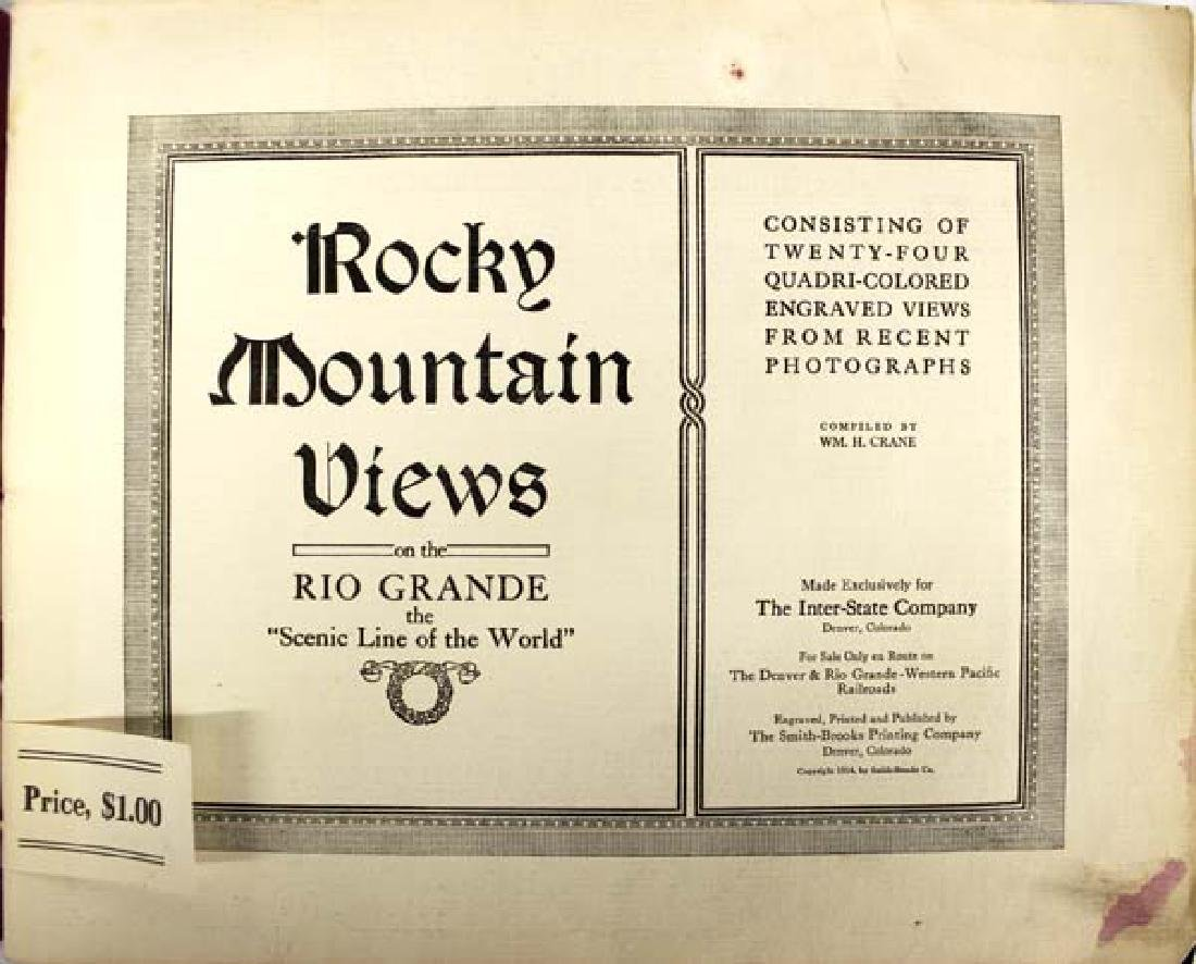 1914 Antique Rocky Mountain Views Colorado - 2