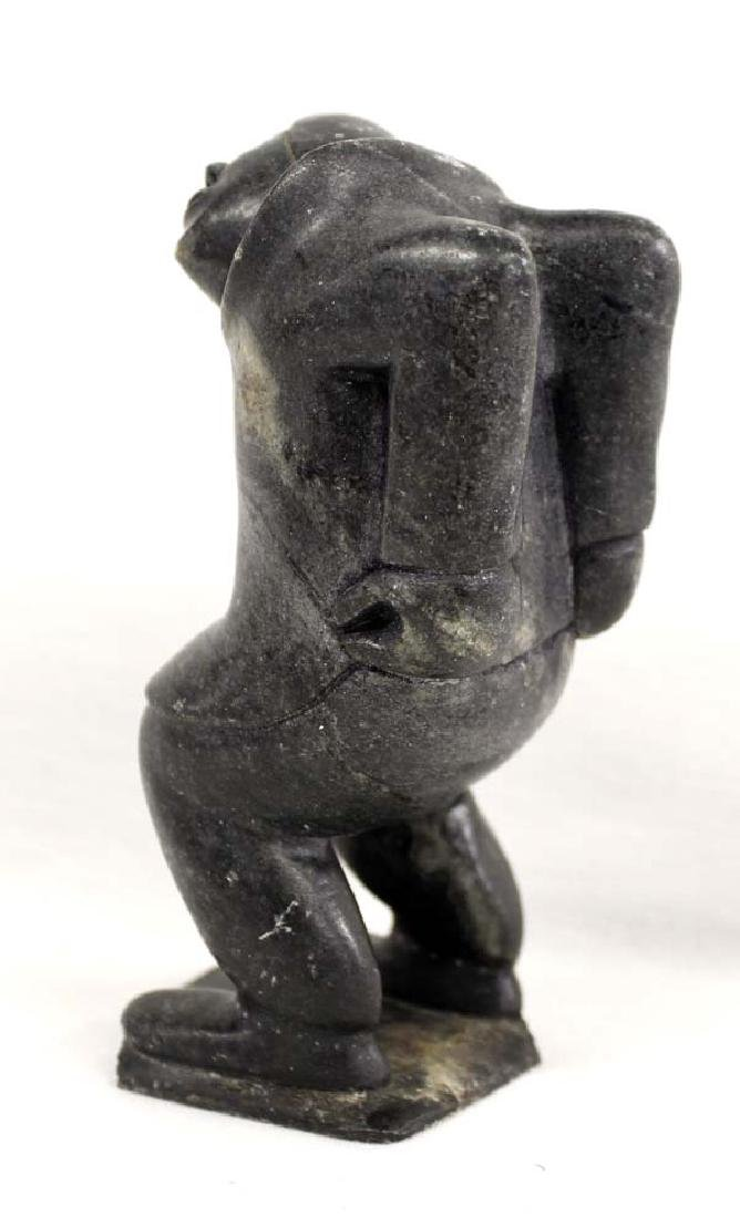 Native American Canadian Inuit Carved Stone Woman - 2