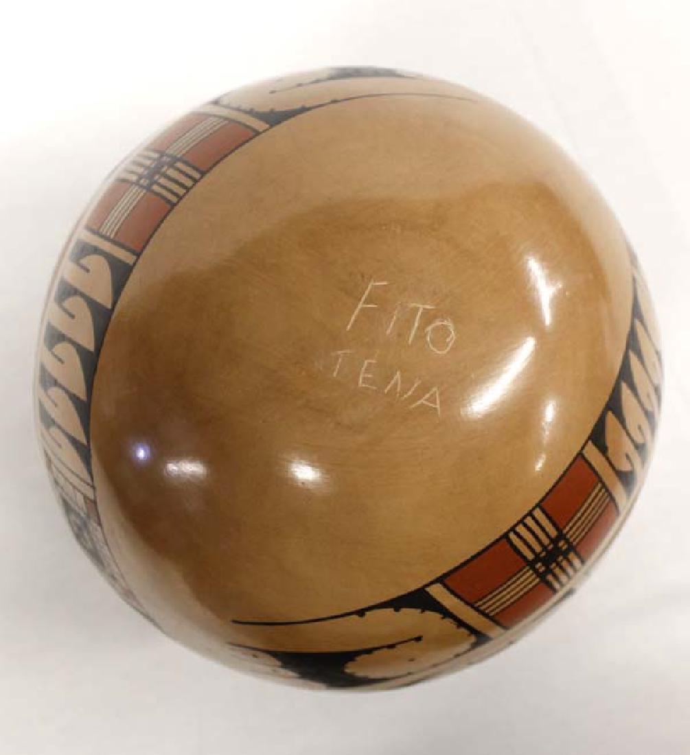 Mexican Mata Ortiz Polychrome Jar by Fito Tena - 4