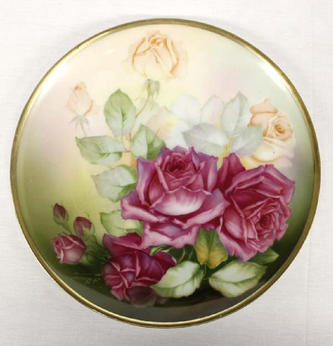 Bavarian Sevres Monte Carlo Hand Painted Plate