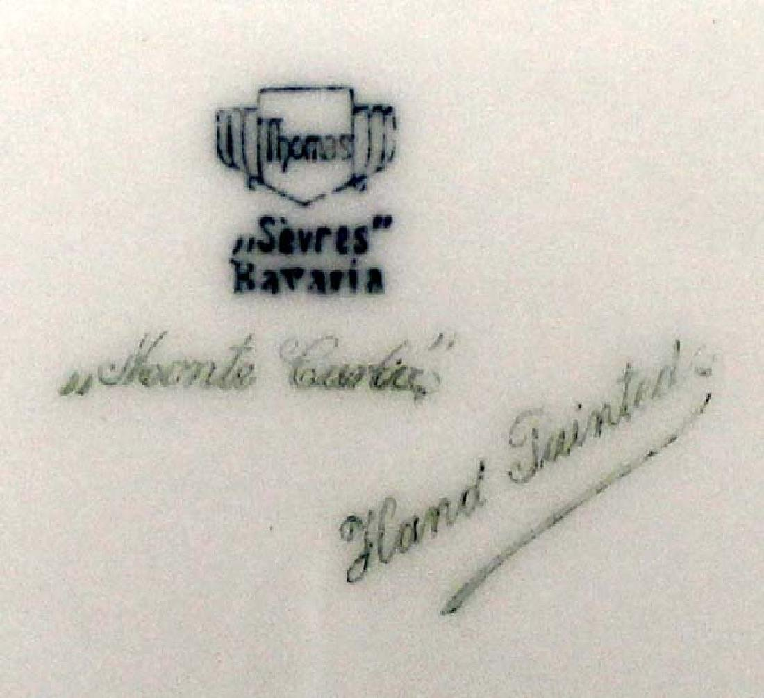 Bavarian Sevres Monte Carlo Hand Painted Plate - 3