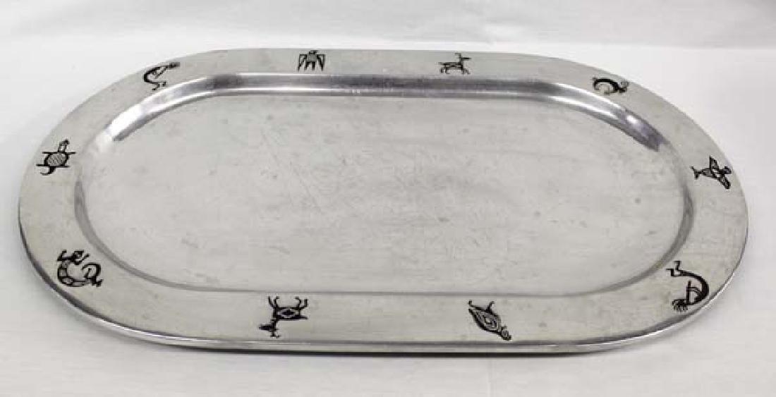 Wilton Armetale Pewter Mimbres Design Platter