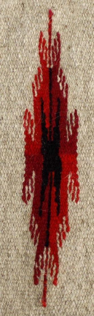 Chimayo 100% Fringed Wool Textile - 2