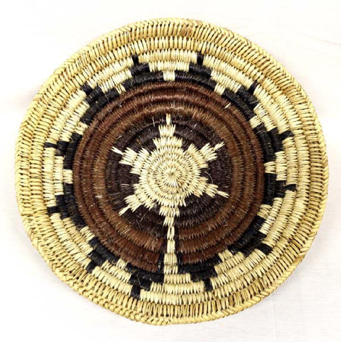 Native American Navajo Polychrome Wedding Basket