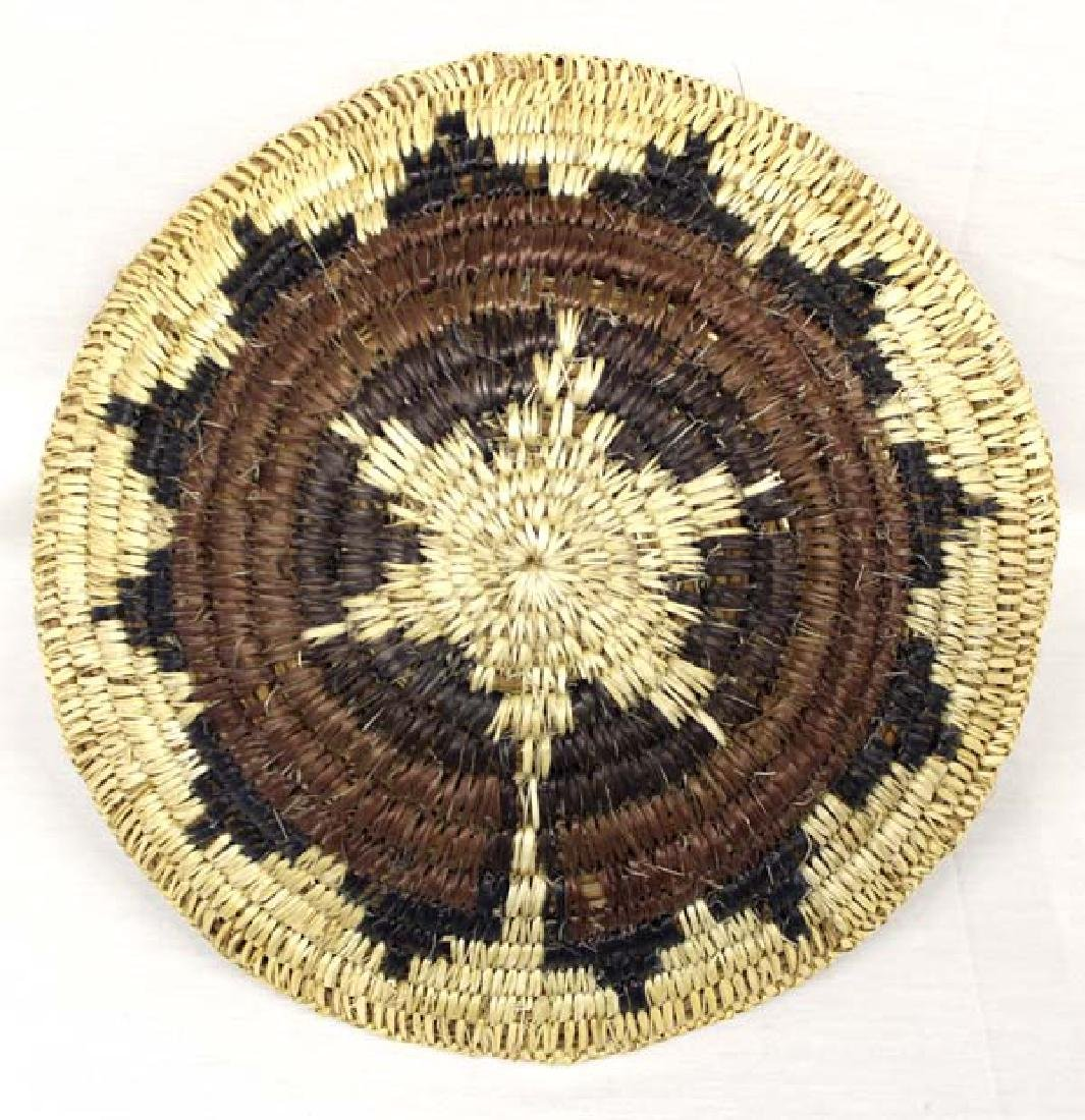 Native American Navajo Polychrome Wedding Basket - 2