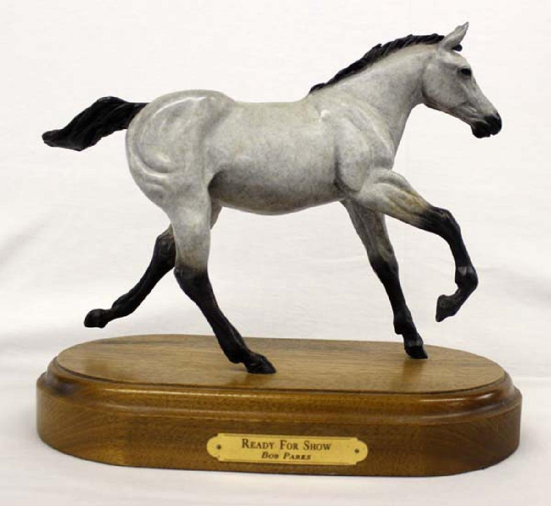 Bronze Horse Statue Ready for Show by Bob Parks