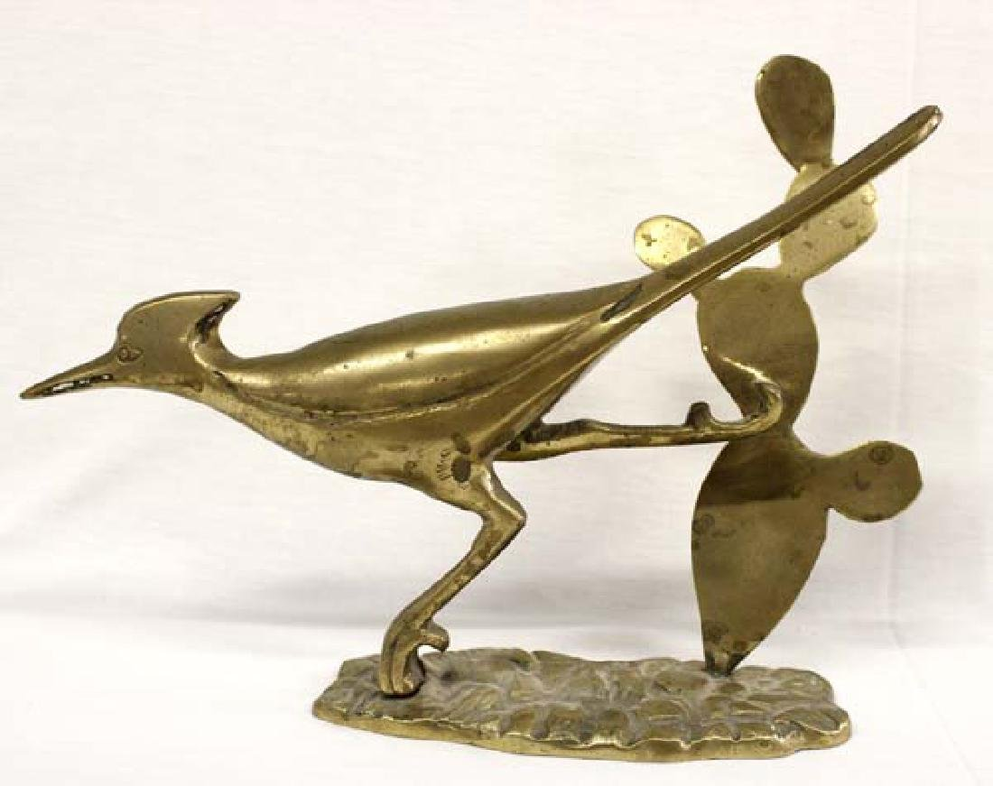 Brass Roadrunner Statue
