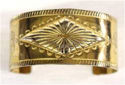 Navajo Bell Trading Solid Copper Cuff Bracelet
