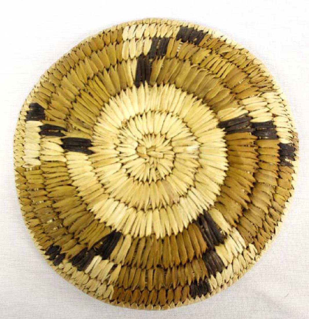 Native American Hopi Basketry Tray - 2