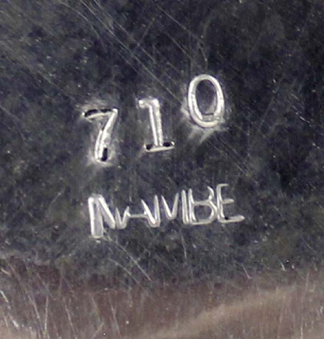 1980 Nambe Incised Roadrunner Tray #710 - 3