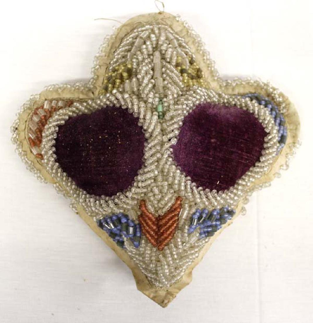 Native American Iroquois Beaded Pillow