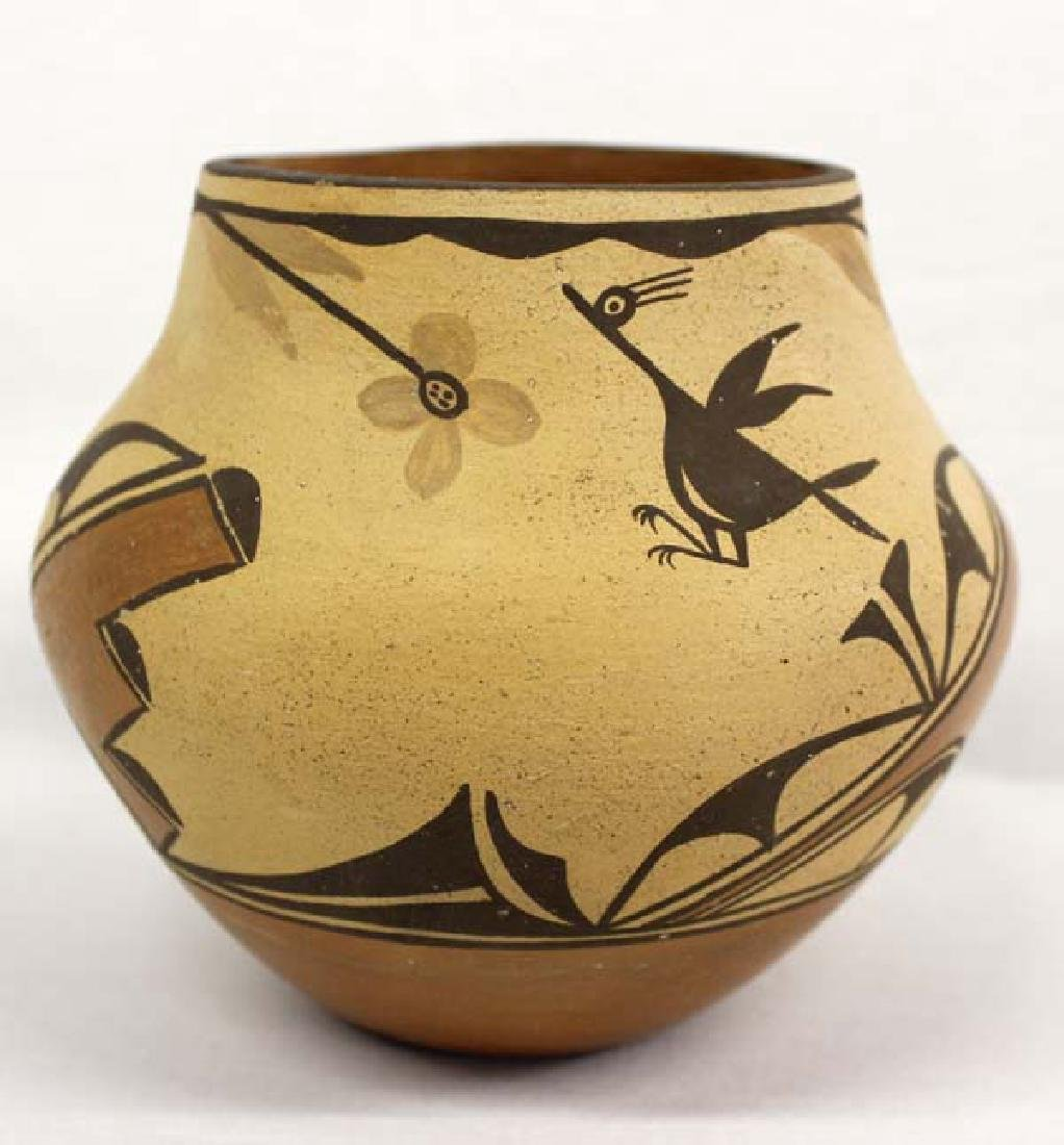 Vintage Zia Pueblo Pottery Jar by G. Chinana