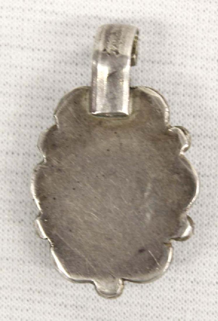 Native American Navajo Sterling Turquoise Pendant - 2
