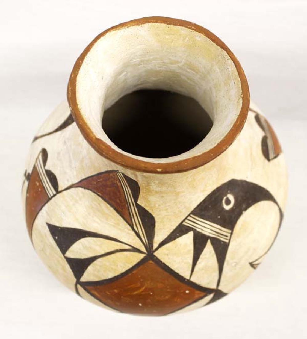 Vintage Native American Acoma Pueblo Pottery Jar - 2