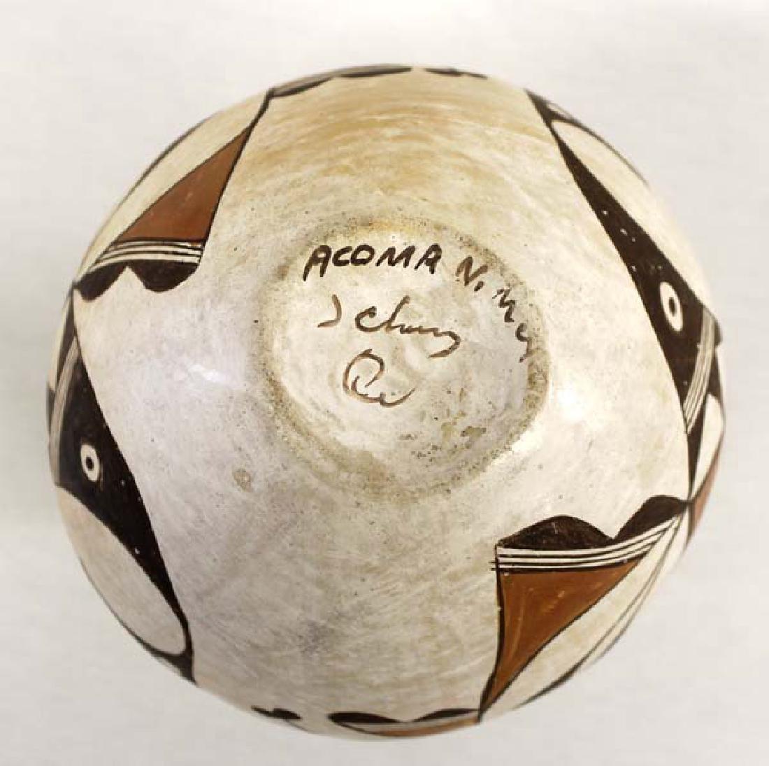 Vintage Native American Acoma Pueblo Pottery Jar - 3