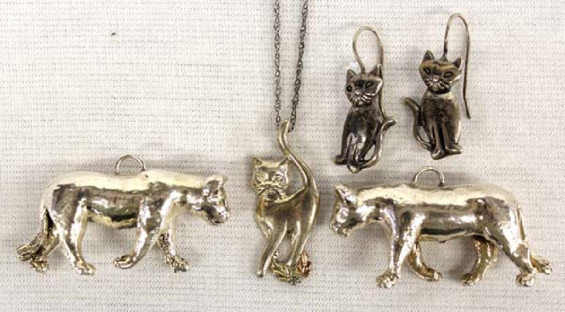 Collection Sterling Silver Feline Jewelry