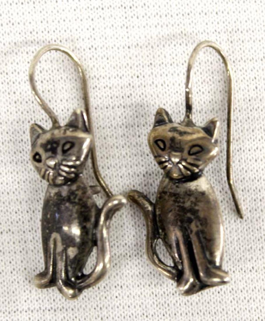 Collection Sterling Silver Feline Jewelry - 2