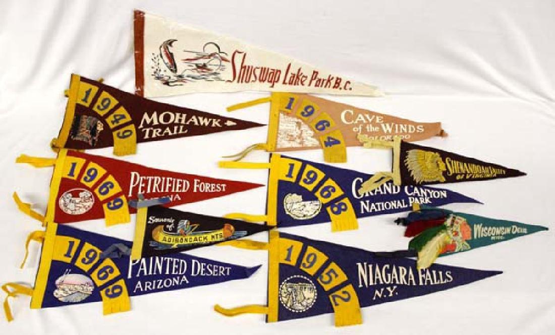 Collection of Vintage Souvenir Pennants