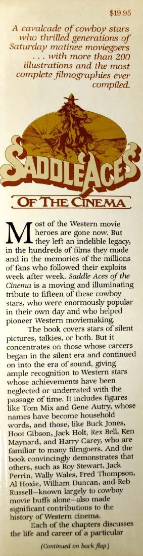 Saddle Aces of the Cinema Book by Buck Rainey - 2