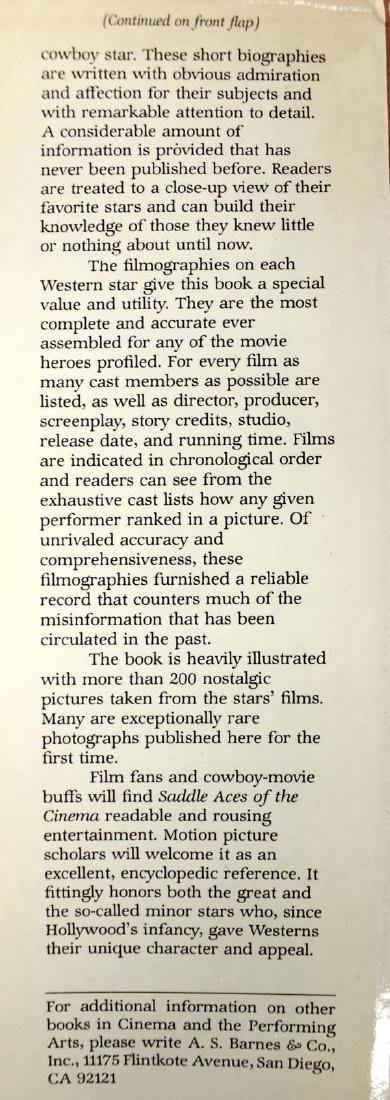 Saddle Aces of the Cinema Book by Buck Rainey - 3