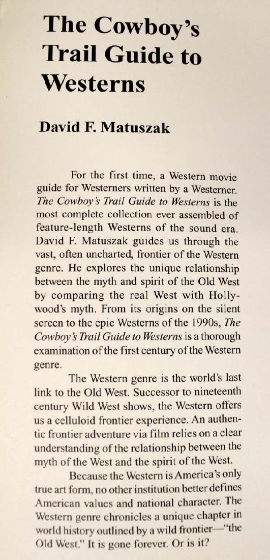 The Cowboy's Trail Guide to Westerns by Matuszak - 3