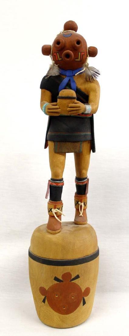 Hopi Hand Carved Mudhead Kachina by Burt Poley
