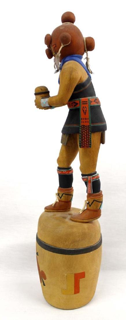 Hopi Hand Carved Mudhead Kachina by Burt Poley - 2
