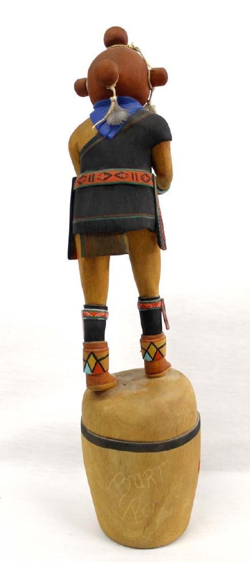 Hopi Hand Carved Mudhead Kachina by Burt Poley - 3