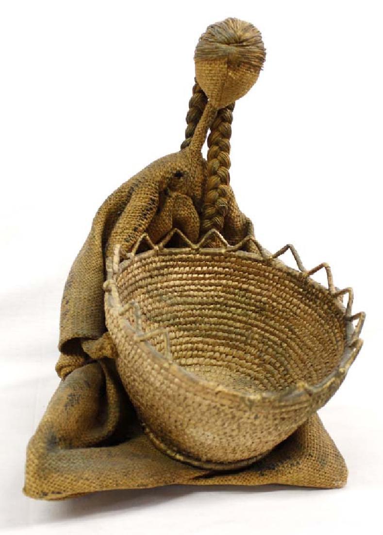 Northwest Coast Polychrome Basket with Doll