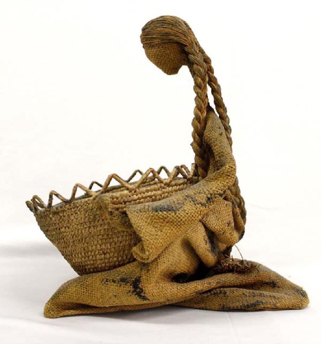 Northwest Coast Polychrome Basket with Doll - 2