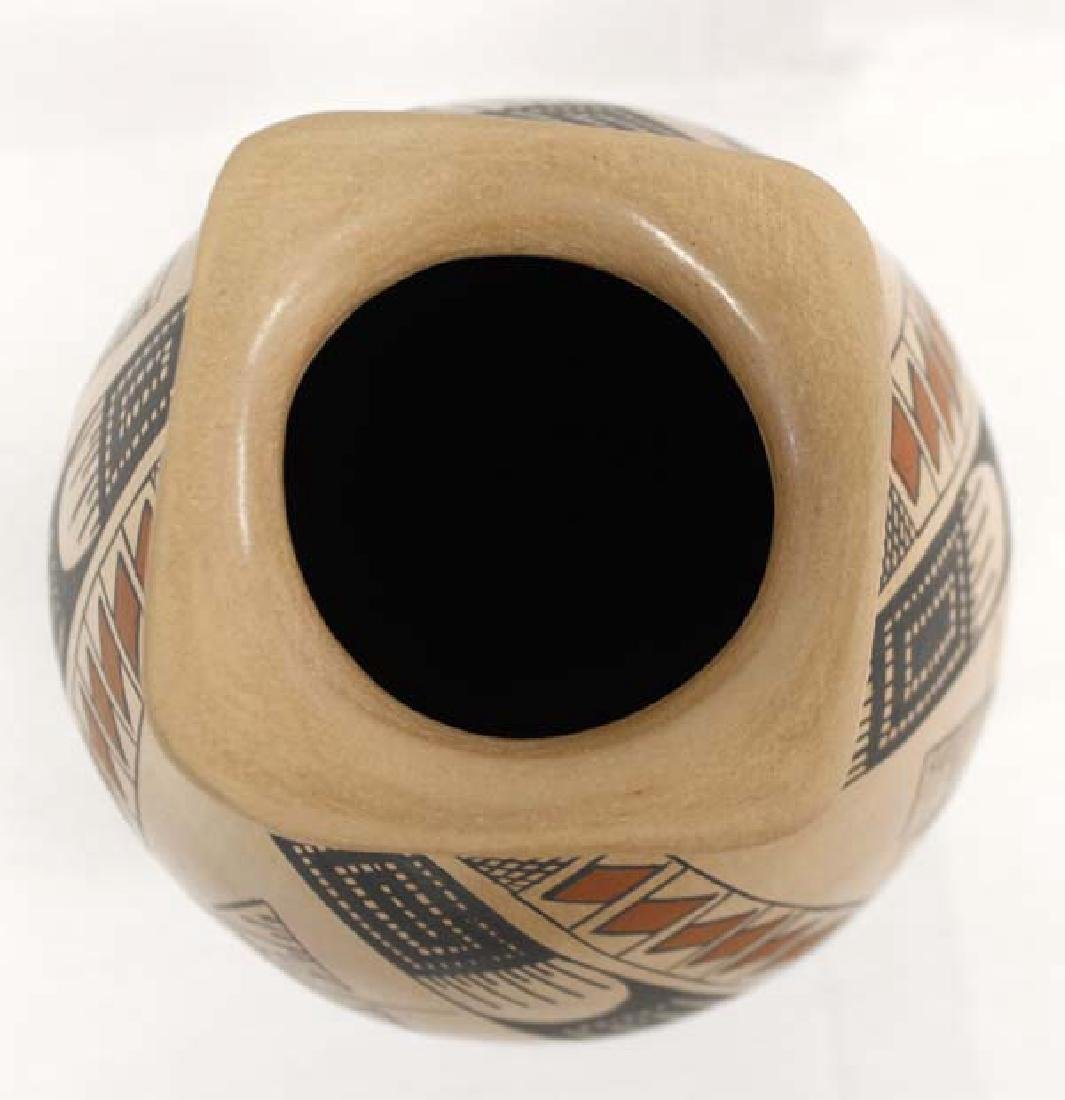 Mexican Mata Ortiz Polychrome Pottery Jar & Stand - 3