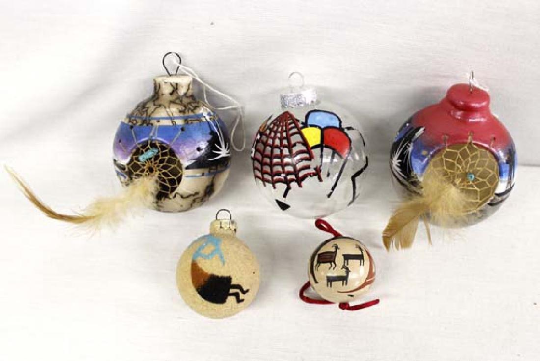 5 Zuni and Navajo Pottery Ornaments