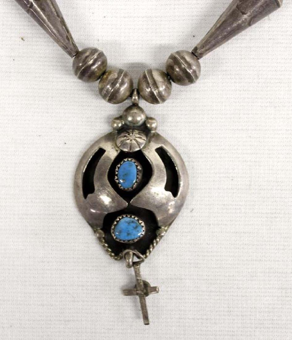 Navajo Old Pawn Sterling Turquoise Necklace