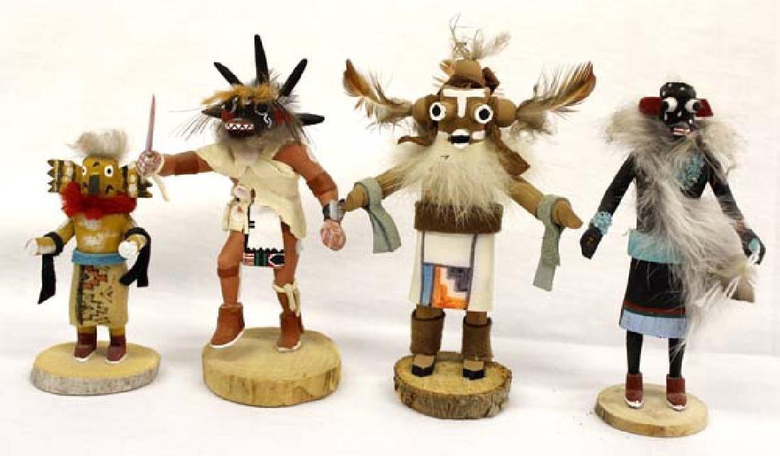 4 Native American Miniature Kachinas