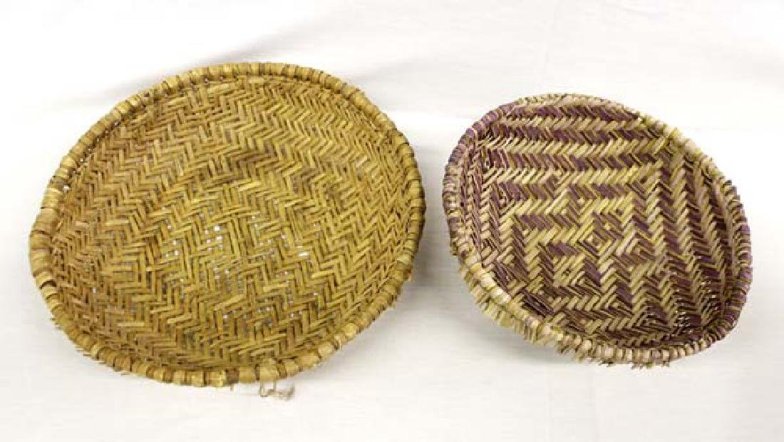 2 Native American Pueblo Plaited Baskets