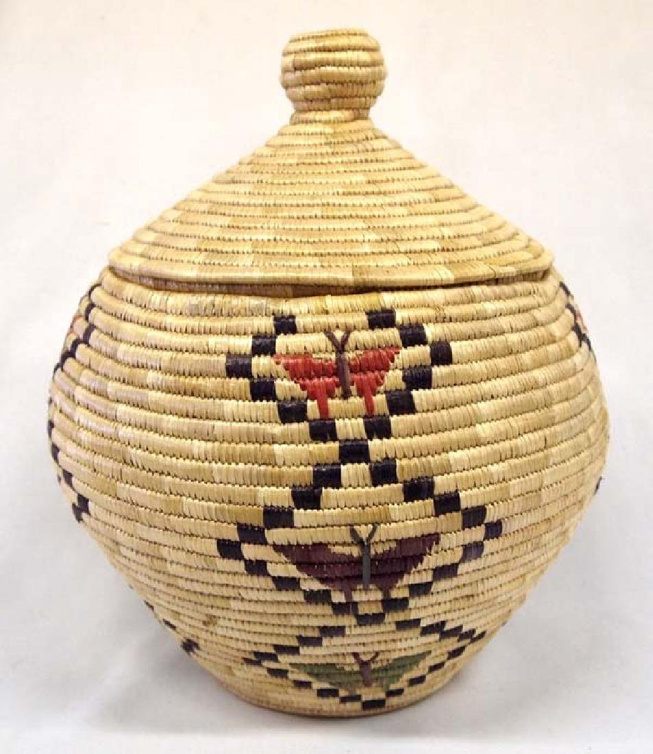 Fabulous Northwest Coast Lidded Butterfly Basket