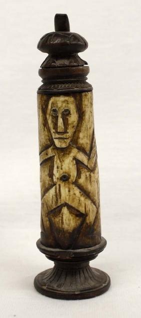 Carved Water Buffalo Horn Medicine Box