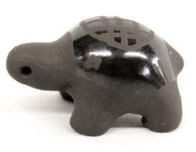 Estate Native American Santa Clara Pottery Turtle