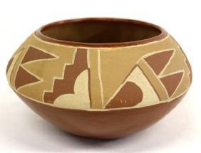 Native American Santa Clara Pueblo Pottery Bowl